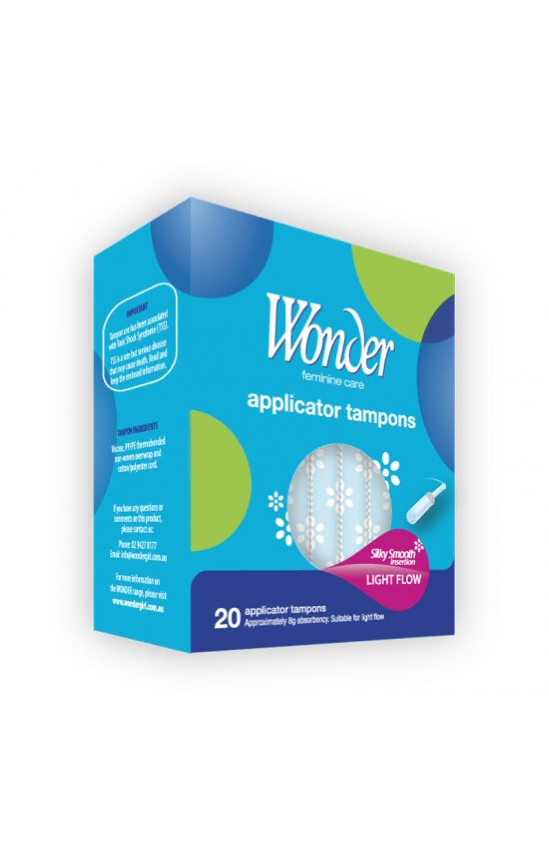 WONDER Regular Applicator Tampons 20pk
